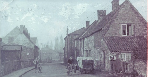 Welbourn High Street, Black and White Photograph