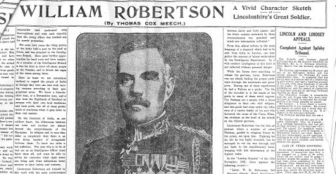 Sir William Robertson scan of old article